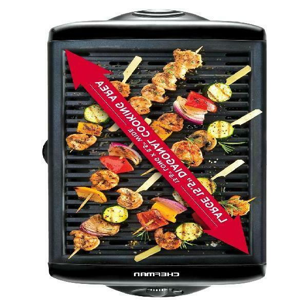 Chefman Electric Grill with Cooking Surface