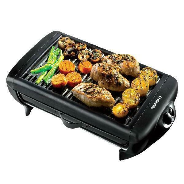 electric smokeless indoor grill with non stick