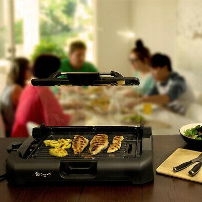 Electric Grill and Griddle Smokeless Non-Stick W/ Removable