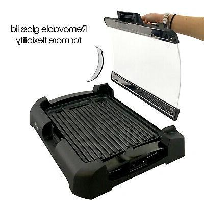 Electric Grill Smokeless Indoor W/ Removable