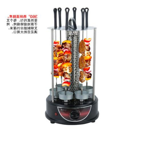 Electric BBQ Home Smokeless Timing Autorotation Grill Machine Hot