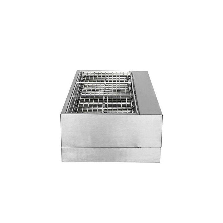 <font><b>Commercial</b></font> Pan Double Temperature Control <font><b>Smokeless</b></font> <font><b>Grill</b></font> Stainless <font><b>Charbroiler</b></font> Barbecue Oven