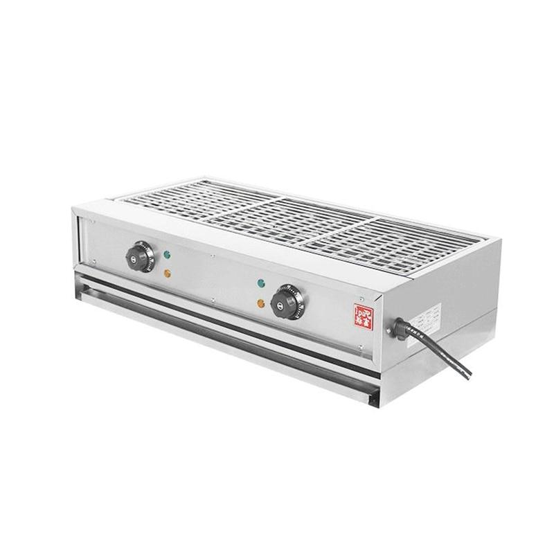 <font><b>Commercial</b></font> Electric <font><b>Grill</b></font> Pan Double <font><b>Smokeless</b></font> Stainless <font><b>Charbroiler</b></font> Barbecue ED-770