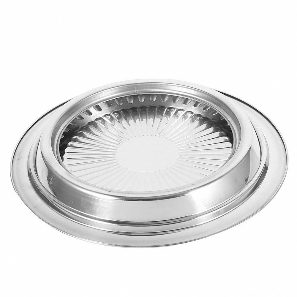 <font><b>Stainless</b></font> <font><b>Steel</b></font> top BBQ Card Pan Round Indoor Kitchen Tools