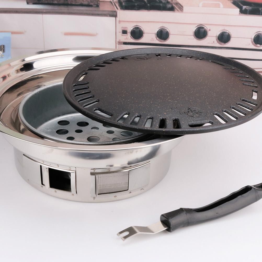 <font><b>Stainless</b></font> Charcoal <font><b>Grill</b></font> Self-Service Barbecue BBQ Outdoor