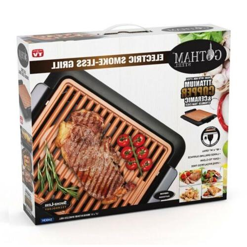 Gotham Steel Indoor Electric Smoke-less Grill And Griddle 16