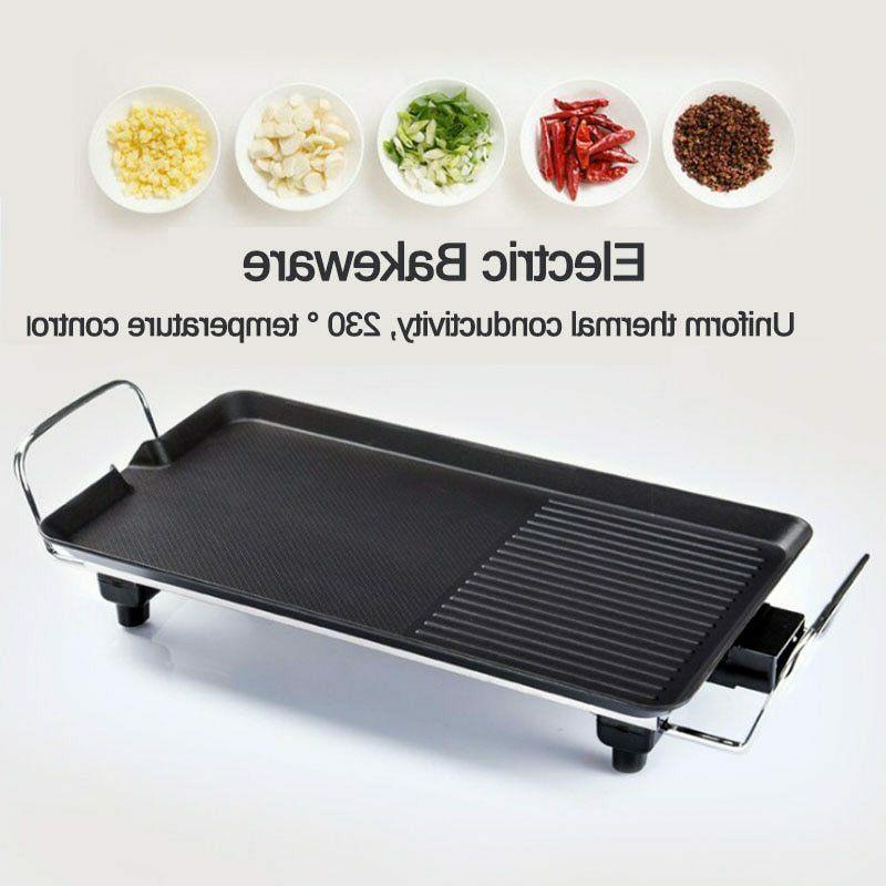 Grill Electric Stick Bbq Smokeless Plate