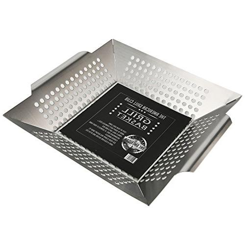 The Grilling - Large Stainless Portable Indoor Outdoor Barbeque Veggies, Kabobs or Charbroil or While Camping Propane Gas or Charcoal