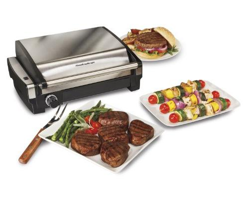 Hamilton Searing Grill, Stainless Steel Dishwasher-Safe Cover
