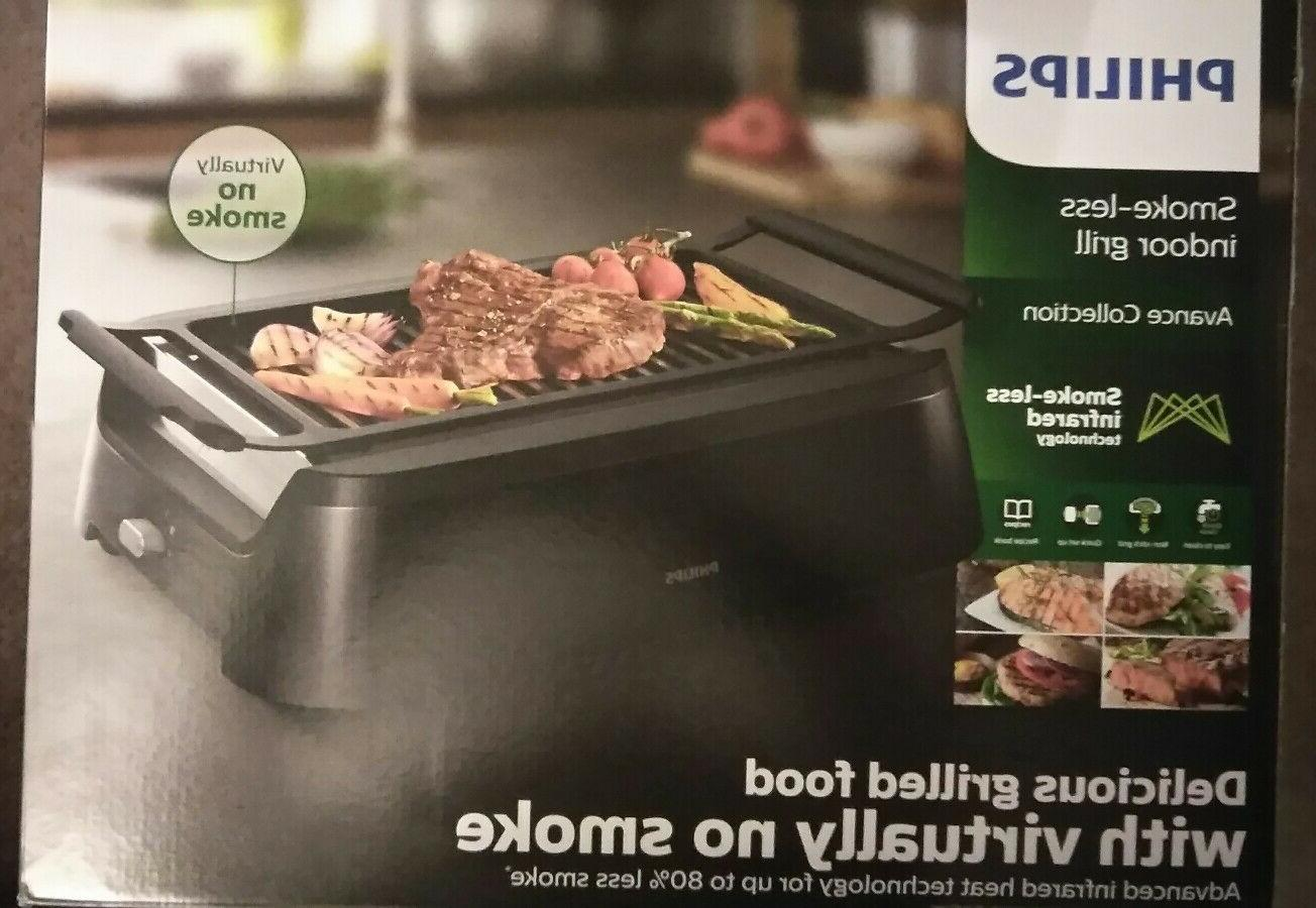 hd6371 94 smoke less indoor grill avance