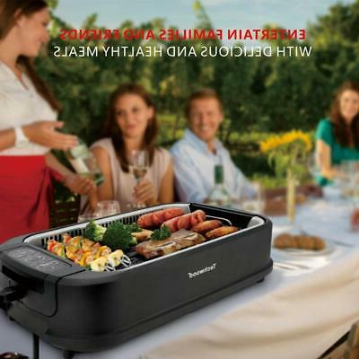 Indoor & Outdoor Smokeless Grill With Tech - Home &