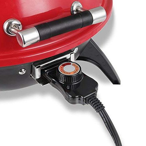 Techwood Indoor/Outdoor Grill-Adjustable Temperature Control-18inch Round Portable Home Barbecue Grill
