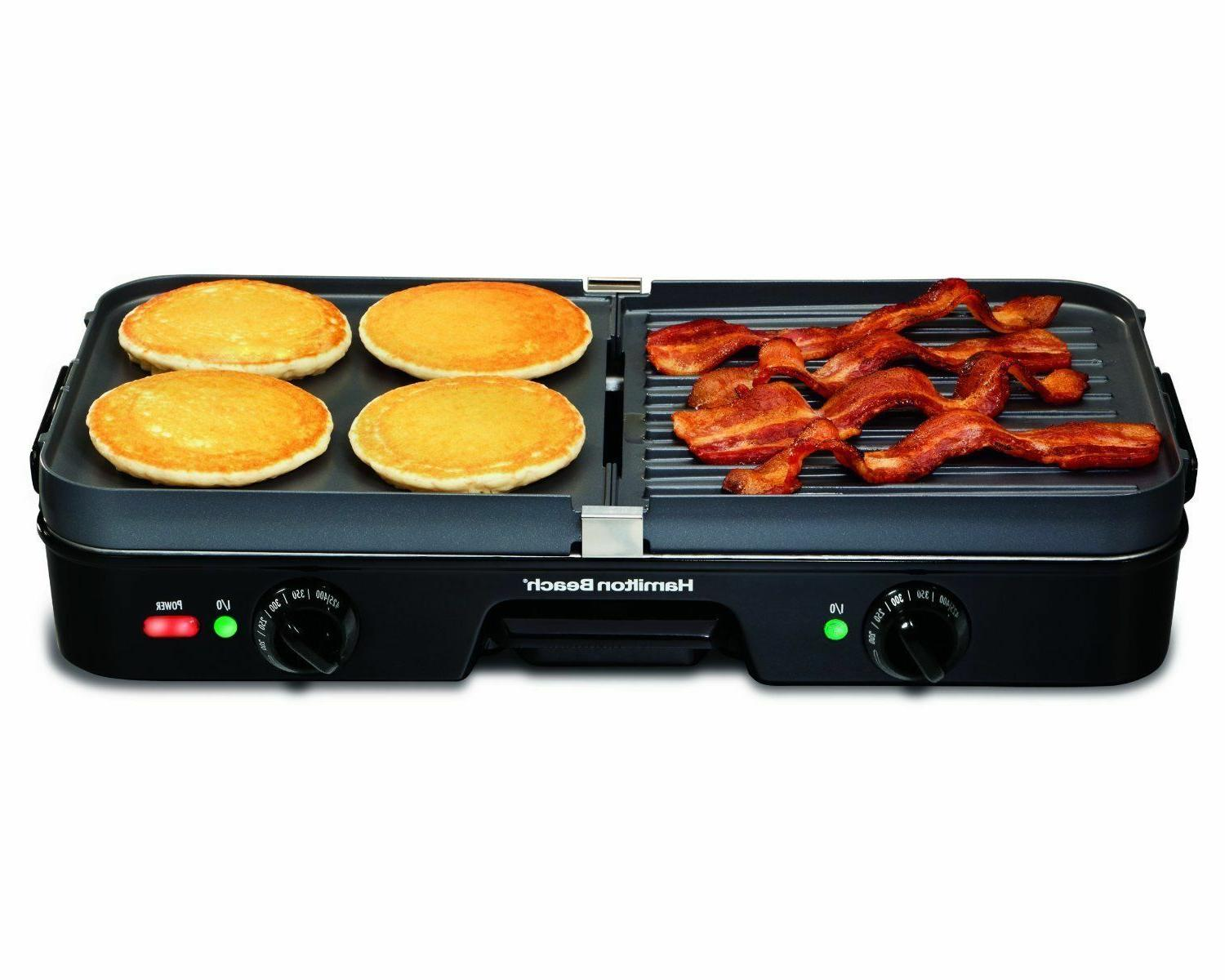 Indoor Electric Griddle Smokeless Countertop Two