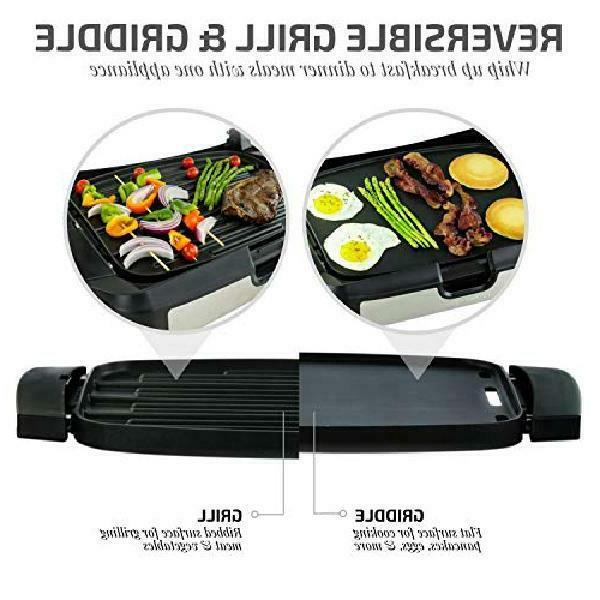 INDOOR GRILL Smokeless BBQ Portable Electric POWER Black