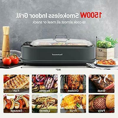 Indoor Electric Korean Grill with Lid,