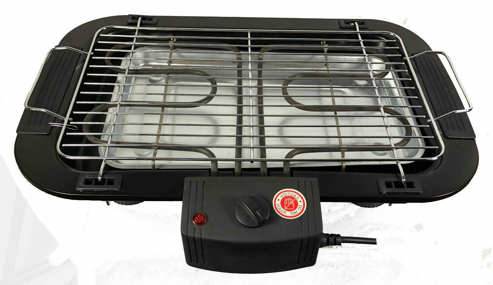 Indoor/Outdoor Portable Electric Barbecue Grill BBQ