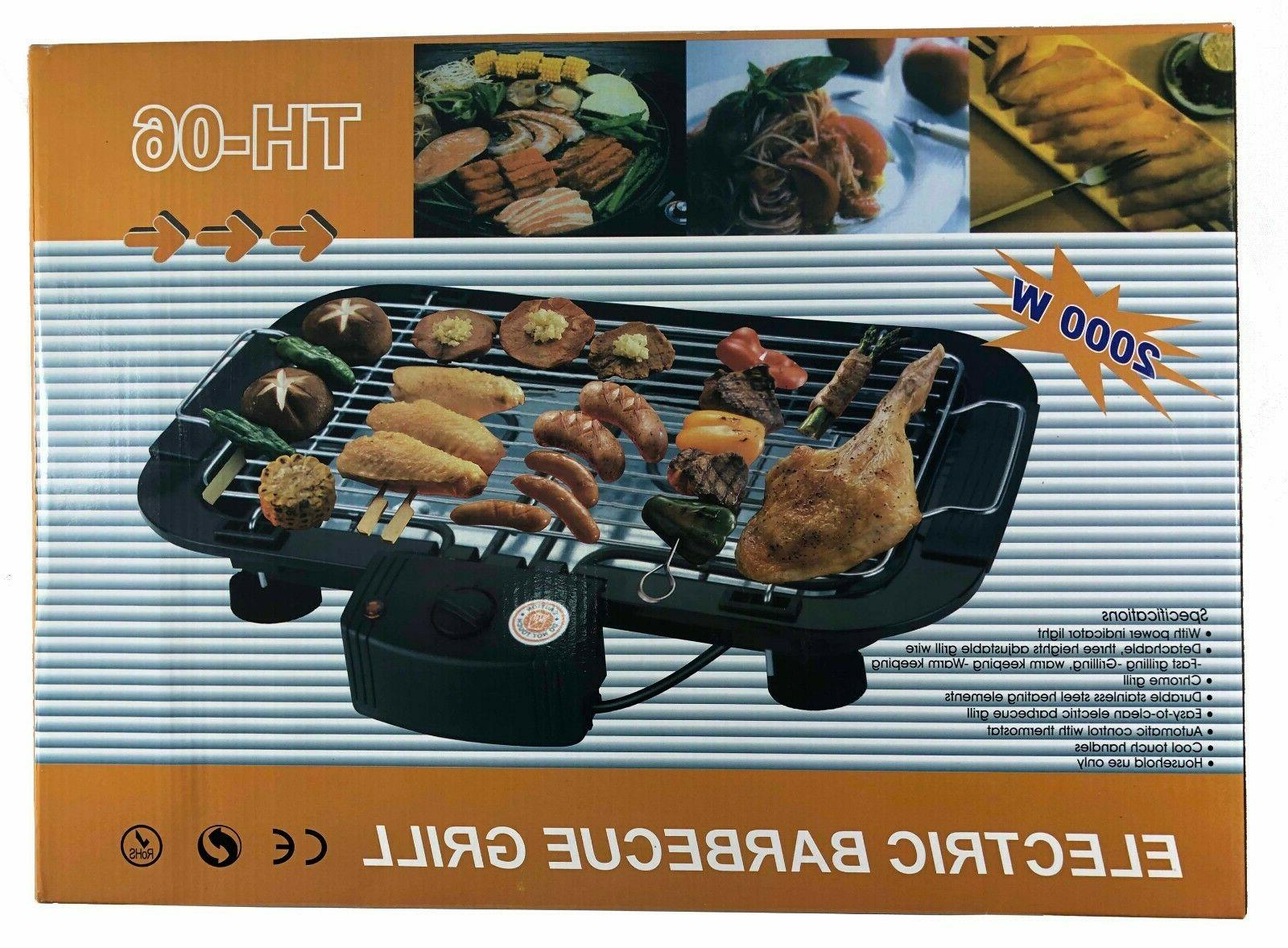 indoor outdoor portable electric barbecue grill cooking