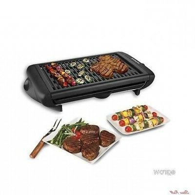 indoor smokeless grill portable electric kitchen cooking