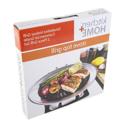 Kitchen Home Top Smokeless BBQ - with...