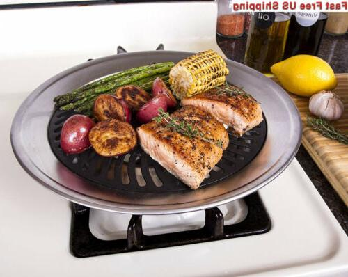 Kitchen + Home Top Smokeless Grill BBQ Stainless with...