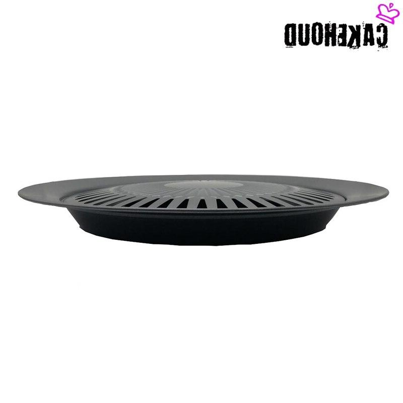 CAKEHOUD Korean Non-stick <font><b>Grill</b></font> Portable Picnic Barbecue BBQ Tray Cooking Set