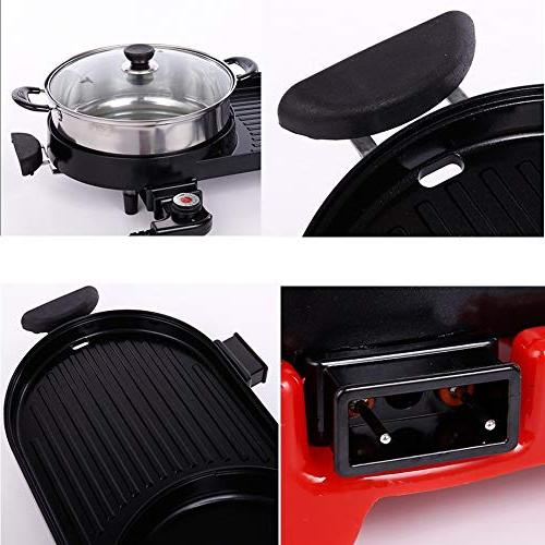 Multi-function electric smokeless electric hot pot