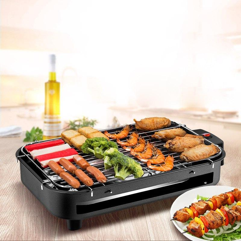 <font><b>Indoor</b></font> <font><b>Electric</b></font> Baking <font><b>Smokeless</b></font> Teppanyaki 220V