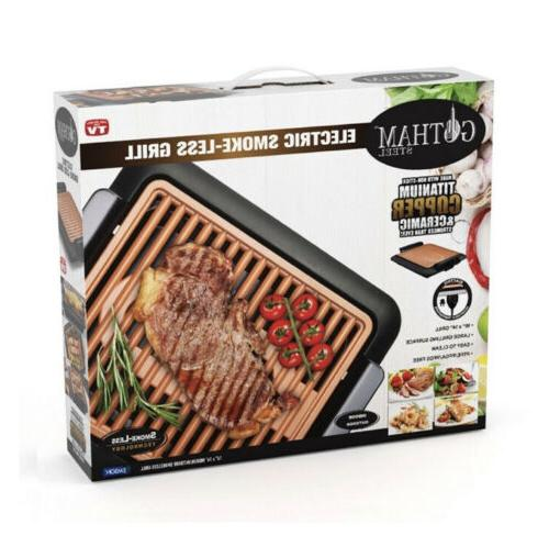 nib smokeless electric grill with non stick