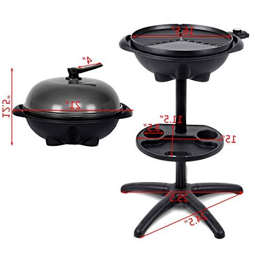 LVR Supply Non-Stick Electric BBQ Grill 4 Temperature Setting Indoor/Outdoor Patio +
