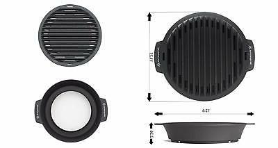 WaxonWare Nonstick Pan For Stove Top Smokeless Griddle Grilling Pan
