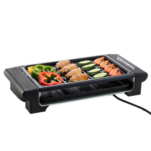 Portable Electric Grill Griddle Non BBQ Smokeless US