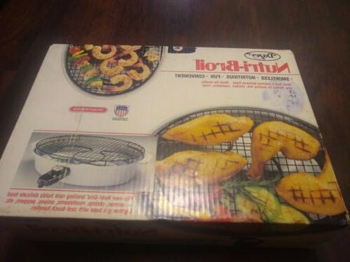 nos nutri broil indoor smokeless electric grill
