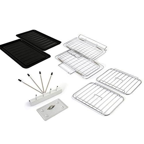 NutriChef Fold-Out Indoor/Outdoor with | For Skewers | Teflon | Timer -