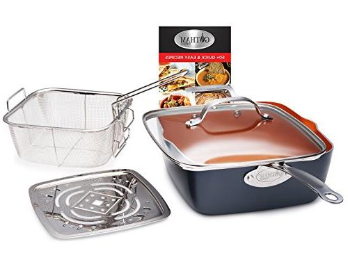 Gotham Steel All Kitchen Cookware Set with Non-Stick Coating – Stock Pan Cookie Sheet Pans