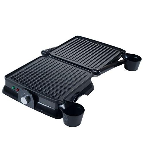 Chef Buddy Press Indoor Grill and Gourmet Sandwich Maker,