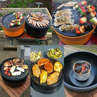 portable bbq charcoal grill barbecue smokeless round