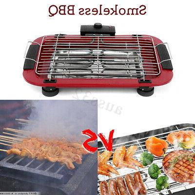 Portable Electric BBQ Griddle Smokeless Nonstick Tray Plate