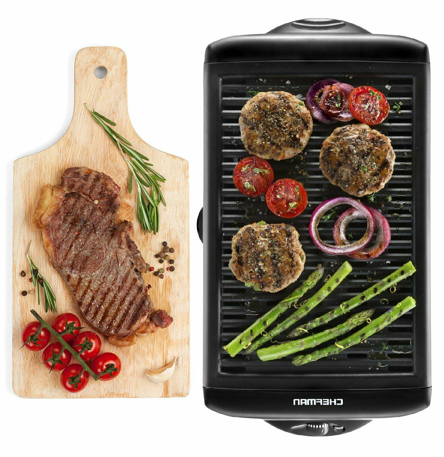 portable electric grill bbq indoor outdoor smokeless