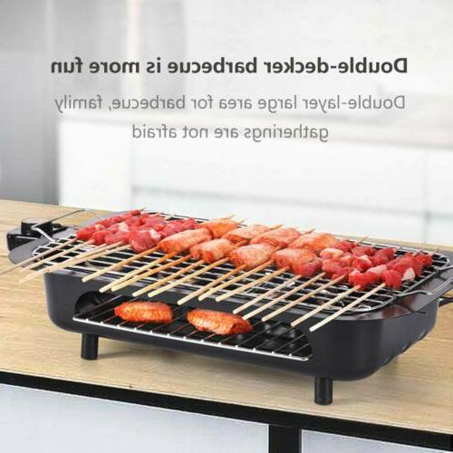 portable electric grill smokeless non stick cooking