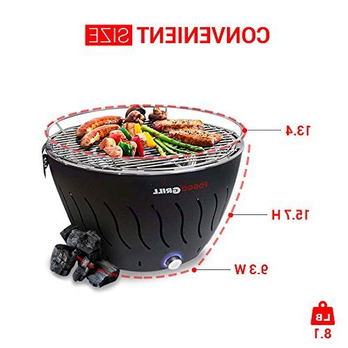 Portable Grill | | Steel Indoor/Outdoor W/Battery Perfect - Includes Travel Bag