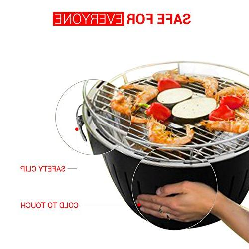 Portable | Stainless Electric Indoor/Outdoor Charcoal BBQ W/Battery Perfect - Travel for & Picnic.
