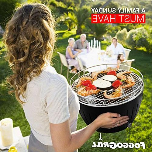 Portable Smokeless Indoor/Outdoor BBQ W/Battery Fan Perfect for - Bag for Camping
