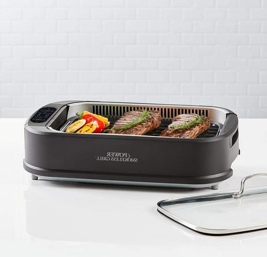 Power XL Smokeless Indoor Removable Grill Griddle Plates