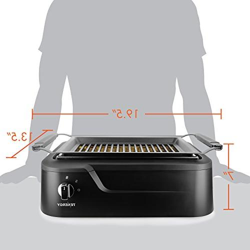 Tenergy Indoor Tabletop Grill, Non-Stick to CleanBBQ Grill, Party/Home, ETL Certified