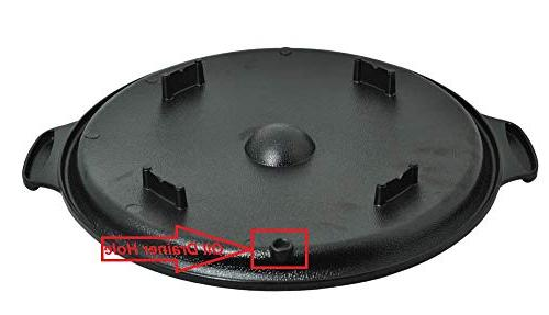 Round Grill with Non-Stick Indoor BBQ, BBQ Stove Top Indoor/Outdoor 34 cm Round