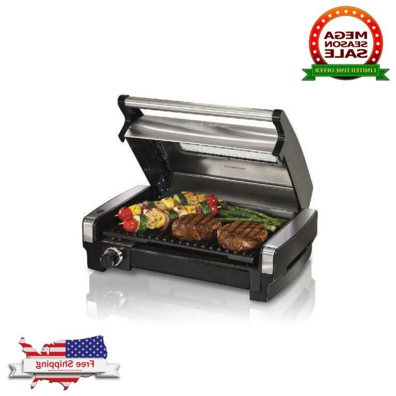 searing grill with lid viewing window smokeless