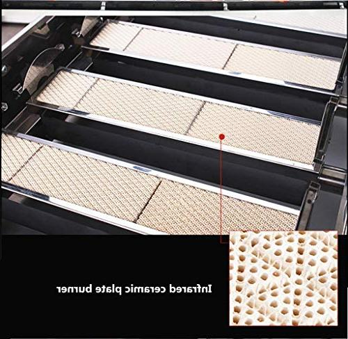 JIAWANSHUN Smokeless Four Commercial Gas Barbecue Grill Barbecue Kebab 2800pa