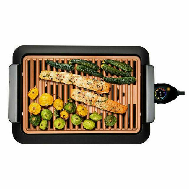 smokeless electric grill deluxe extra large surface