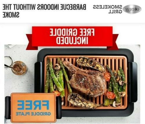 smokeless electric grill griddle surface 2 in