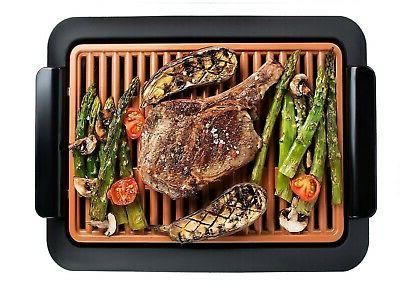 smokeless electric grill non stick surface indoor